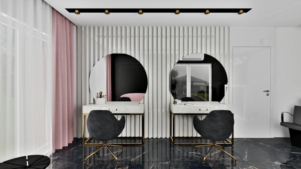 Projektowanie wnętrz - Salon fryzjerski